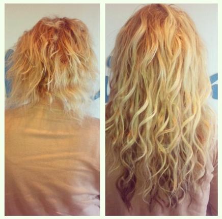 hår extensions krøller