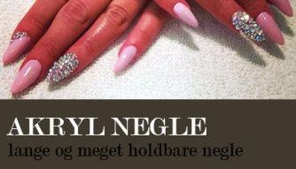 akryl negle pink