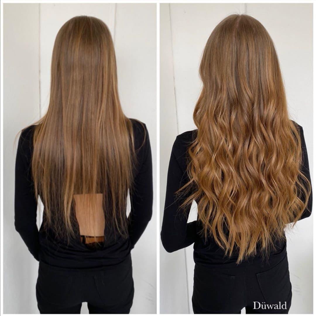 ægte hår extensions krøller